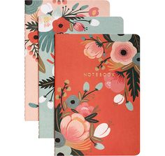 Pretty floral notebooks from Rifle