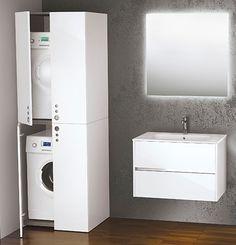 Kast wasmachine en droger Novellini space - wasruimte inspiratie ...
