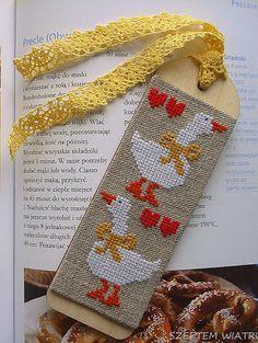 Bookmark completed cross stitch cross stitch by BySzeptemWiatru