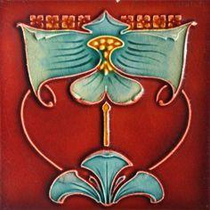 J & W Wade - Art Nouveau Tiles so beautiful Antique Tiles, Vintage Tile, Antique Art, Art Nouveau Tiles, Art Nouveau Design, Design Art, Motifs Art Nouveau, Azulejos Art Nouveau, William Morris Art