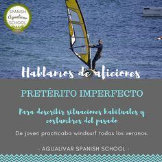 Pretérito Imperfecto. Hablamos de aficiones del pasado. Spanish grammar. Learn Spanish, Hobbies, Past Tense