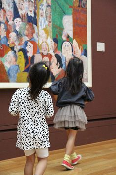 Sisters on a trip to the museum with Darmatian Tunic Dress and Puff Sleeves Blouse