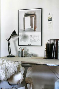 A room with interesting resources – Initial Transit - Arbeitszimmer Interior Work, Home Interior Design, Interior Architecture, Modern Interior, Office Workspace, Home Office, Small Office, Door Design, House Design