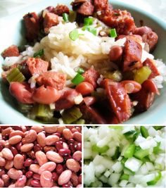Red Beans and Rice Recipe - use this a a loose guide line to season the beans for Red Beans and Rice Sushi Rolls.