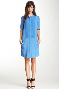 Tibi Pearl Silk Shirt Dress on HauteLook