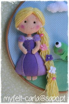 My Felt: Rapunzel. Felted Wool Crafts, Felt Patterns, Disney Crafts, Felt Fabric, Felt Hearts, Felt Diy, Felt Dolls, Felt Ornaments, Sewing For Kids