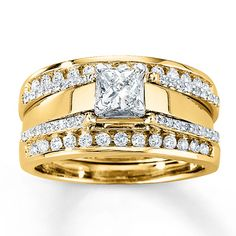 Jared - Diamond Enhancer Ring 1/2 ct tw Round-Cut 14K Yellow Gold