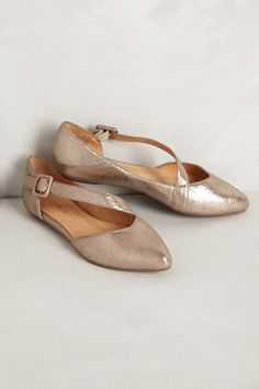 Gold Flats - Anthropologie