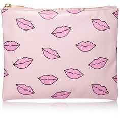 FOREVER 21 Kisses Print Makeup Clutch (81 MXN) ❤ liked on Polyvore featuring bags, handbags, clutches, purses, pink, forever 21 handbags, pattern handbag, pink handbags, pink purse and print purse