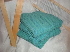 Waffle weave on a rigid heddle loom. One for my 2014 project list I think!