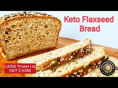 HOW TO MAKE KETO FLAX SEED BREAD - SUPER LIGHT, SOFT & FLUFFY WITH LESS THAN 1 G NET CARB ONLY ! - YouTube