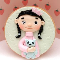 Cookie Sugar Art #321 Cute Cookies, Sugar Cookies, Fondant Girl, Cupcake Cakes, Cupcakes, Play Clay, Sugar Paste, Cold Porcelain, Cake Designs