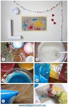 1 cup self-raising flour  1 cup table salt  1 cup water  Food or paint coloring  Put in microwave for 10 sec on high