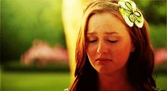 "Pin for Later: Why Blair Waldorf Is the Queen Bee of GIFs It doesn't happen a lot, but sometimes things don't go her way. When that happens, the term ""ugly cry"" could never be used to apply to Blair. Blair Waldorf, Wattpad, Leighton Meester Hair, Mood Gif, Crying Gif, Ugly Cry, Quarter Life Crisis, Are You Not Entertained, Gifs"