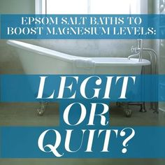 Which may explain the rise in popularity of Epsom salt (magnesium sulfate) baths in an attempt to boost levels.  Dosing up on magnesium has been credited with reducing stress, curing depression, and giving you the best night's sleep of your life. But do Epsom salt baths stand up to the hype?