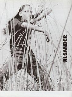 Campaign: Jil Sander Season: Fall 1997 Photographer: David Sims Model(s): Angela Lindvall