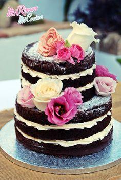 Naked Cake, Wedding Cake | Tarta desnuda, Tarta de Boda (chocolate y swiss meringue buttercream)