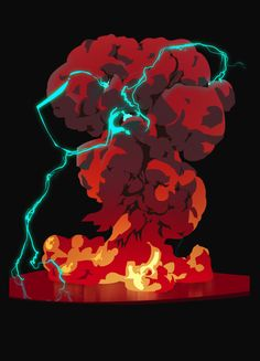 Explosion Drawing, Game Effect, Animation Sketches, Color Theory, Traditional Art, Creative Art, Aesthetic Wallpapers, Art Reference, Fantasy Art