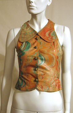 https://flic.kr/p/4op1bk | Bill Gibb Marbled Leather Waistcoat | Sold on Vintage-a-Peel in 2007