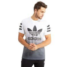 adidas Originals Urban Fade T-Shirt - Shop online for adidas Originals Urban Fade T-Shirt with JD Sports, the UK's leading sports fashion retailer. Order T Shirts, 3d T Shirts, Branded T Shirts, White Adidas Originals, Adidas Outfit, Personalized T Shirts, Casual Elegance, Custom T, Stylish Men
