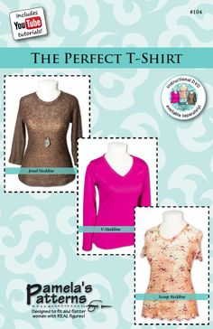 Sew the Perfect T-Shirt/Sewing with Nancy/Zieman/Pamela Leggett: 10 tips on sewing with knits (video)