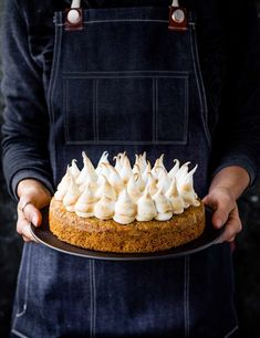 Carrot and Pistachio Cake with Marshmallow Icing Turn your carrot cake up a notch with our impressive recipe. Carrots, pistachios and almonds give this gluten-free cake a rich, moist crumb, and the marshmallow icing is a lighter topping than traditional buttercream