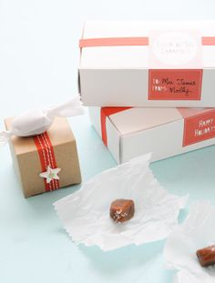 Fleur de Sel Caramels (naturally gluten free!) and pretty printables to make cute gifts!