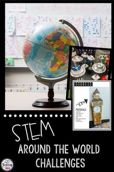 STEM Around the World is a fun bundle of activities that connects Social Studies and Engineering Design Challenges. (third, fourth, fifth, Grade 3,4,5) Students will enjoy researching and learning about historical landmarks around the world and then design models of the landmarks.  Great to add to Christmas Around the World. Students love designing, creating, & engineering. Students will problem solve and think critically as they complete their activities and research about Famous Landmarks.