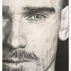 Portrait au crayon graphite de °°antoine griezmann°°