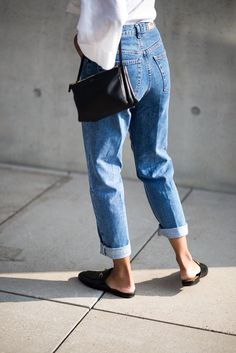 mom jeans with loafers @sommerswim