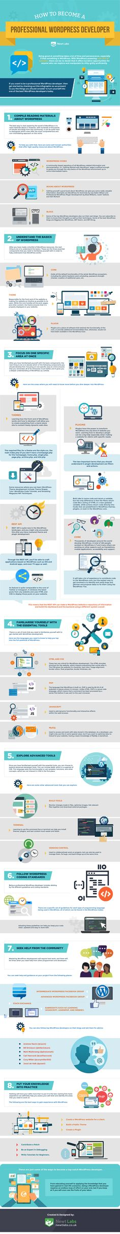 How to Become a Professional WordPress Developer - #Infographic