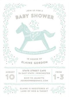 Get Inspired By A Nursery Room Staple For Your Baby Shower Invitations.  Find This Unique