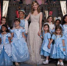 Lily James In Elie Saab Couture - 'Cinderella' Disneyland Resort Screening
