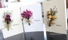 드라이플라워카드 핫팩스토어에서 만나요. !! : 네이버 블로그 Little Flowers, Felt Flowers, Paper Flowers, Handmade Flowers, Handmade Crafts, Diy And Crafts, Dried Flower Bouquet, Dried Flowers, Wedding Cards