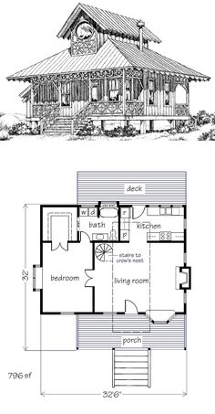 This plan includes my changes. Original linked at the link, but the dimensions in it aren't accurate at all. Tiny Cabins, Tiny House Cabin, Tiny House Living, Best House Plans, Small House Plans, House Floor Plans, The Plan, How To Plan, Architectural Floor Plans