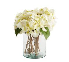 Blumen deko fr hling arrangement zweige hortensien for Glasvase bepflanzen