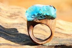 Wooden Ring Resin Ring Magic Ring