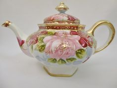 Nippon with gilded beads teapot