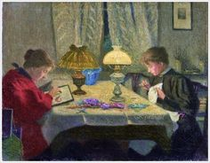 Ernst Eitner (German, 1867-1955) «A stitch in time»