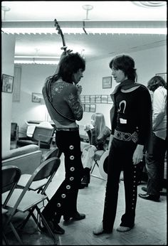 Keith and Mick by Ethan Russell 1969