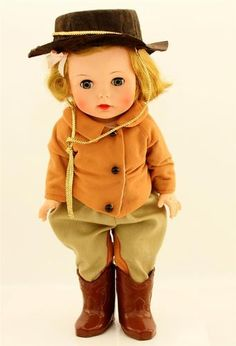 """RARE 1961 Madame Alexander Caroline Kennedy Doll 15"""" Riding Habit Outfit Lovely"""
