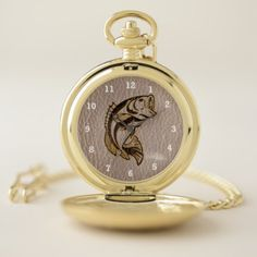 Leather-Look Fish Soft Pocket Watch - accessories accessory gift idea stylish unique custom