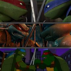 Some things never change... TMNT.. Except which side they are standing on.