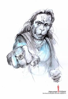 Sunday, January 18, 2015 Hanuman TODAY / Connecting with Hanuman through art / Artwork by Petr Budil [Pritam] www.hanuman.today