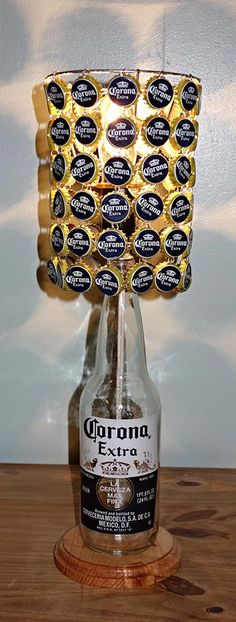 Corona Extra 24 Oz Bottle Lamp Complete With Bottle Cap Lamp Shade by LicenseToCraft, $60.00