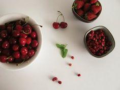 cherries & berries, food photography