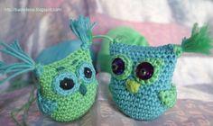 Easy owls, crochet pattern