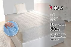 £74 INSTEAD OF £367 FOR A SINGLE COOL BLUE MEMORY FOAM MATTRESS, £99 FOR A SMALL DOUBLE, £104 FOR A DOUBLE OR £124 FOR A KING SIZE - #SAVE UP TO 80% http://www.grabdeals.today/uk-en/deal_detail/16272