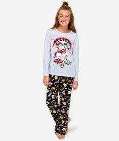 NWT JUSTICE Girls Pastel Unicorn Pajamas PJ Set Sz 10 12 14 16 18 20