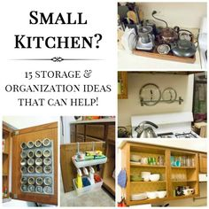 15 Storage And Organization Ideas For Your Kitchen. Utilizing The Back Of Cabinets Is A Great Space Saver!